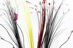 Абстрактная предпосылка с искусственным buterfly и листьями Стоковая Фотография