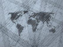 Абстрактная предпосылка с исследованной картой мира бесплатная иллюстрация