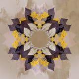 Флористическая абстрактная картина, текстура с листьями и цветки Стоковая Фотография RF