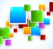 Абстрактная предпосылка с квадратами Стоковое Изображение RF