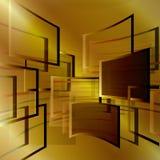 Абстрактная предпосылка с квадратами Бесплатная Иллюстрация
