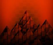 Абстрактная предпосылка с красными площадями Бесплатная Иллюстрация