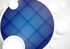 Абстрактная предпосылка с кругами белой бумаги Стоковые Фотографии RF