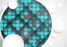 Абстрактная предпосылка с кругами белой бумаги Стоковое фото RF