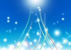 Абстрактная предпосылка с пирофакелом цветня голубым и пробел для текста Стоковое Фото