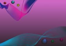 Абстрактная предпосылка с покрашенными линиями и пузырями Стоковые Фотографии RF