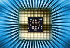 Абстрактная предпосылка с процессором компьютера стоковое фото rf