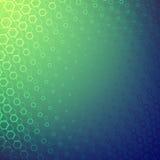 Абстрактная предпосылка с сериями геометрических форм Иллюзия глубины к космосу Стоковое Изображение