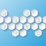 Абстрактная предпосылка с символами валюты Стоковая Фотография RF