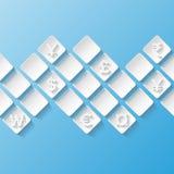 Абстрактная предпосылка с символами валюты Стоковое Изображение RF