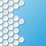 Абстрактная предпосылка с символами Стоковая Фотография RF