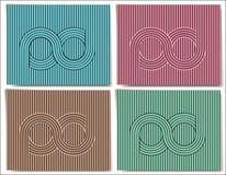 Абстрактная предпосылка с символом безграничности Стоковая Фотография RF