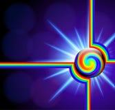 Абстрактная предпосылка с спиралью спектра стеклянного шарика Стоковые Изображения