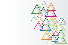 Абстрактная предпосылка с треугольниками и космос для вашего сообщения Стоковые Фото