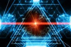 Абстрактная предпосылка с лучем лазера иллюстрация штока