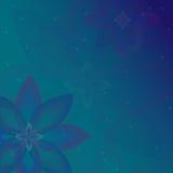 Абстрактная предпосылка с флористическим мотивом Стоковые Изображения RF