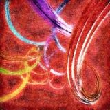 Абстрактная предпосылка с цветастыми волнистыми переплетенными лентами Стоковое фото RF