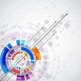 Абстрактная предпосылка с элементами технологии также вектор иллюстрации притяжки corel Стоковая Фотография
