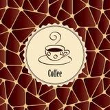 Абстрактная предпосылка с элементом дизайна - чашкой кофе Стоковое Изображение RF