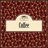 Абстрактная предпосылка с элементом дизайна - чашкой кофе Стоковая Фотография RF