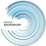 Абстрактная предпосылка с яркими голубыми линиями Голубые круги с местом для вашего текста Стоковое Изображение
