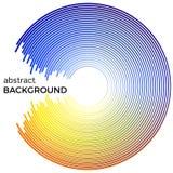 Абстрактная предпосылка с яркими красочными линиями Голубые и желтые круги с местом для вашего текста Стоковые Фотографии RF