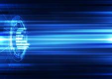 Абстрактная предпосылка технологии вектора, иллюстрация Стоковые Фото