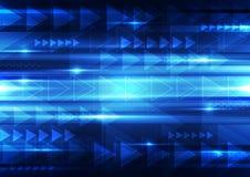 Абстрактная предпосылка технологии вектора, иллюстрация Стоковая Фотография RF