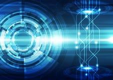 Абстрактная предпосылка технологии инженерства вектора, иллюстрация Стоковые Фотографии RF