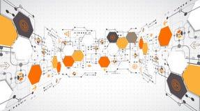 абстрактная предпосылка технологическая Стоковое Изображение