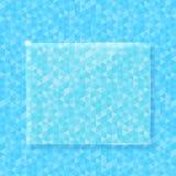 Абстрактная предпосылка треугольника вектора с стеклом Стоковая Фотография RF