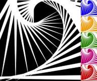 Абстрактная предпосылка установленная с концентрическими вращая линиями иллюстрация штока