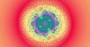 Абстрактная предпосылка фрактали 4k с детальной двигая пульсируя круговой картиной при детальная пластичная волнистая решетка окр бесплатная иллюстрация