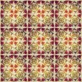 Абстрактная предпосылка - флористическая керамическая плитка, музей Azulejo, Лиссабон Стоковое фото RF