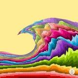 абстрактная предпосылка цветастая Вектор мозаики Стоковое Изображение RF