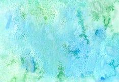абстрактная предпосылка цветастая Handmade текстура в зеленом цвете и Стоковая Фотография
