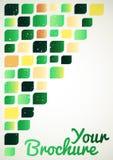 Абстрактная предпосылка цвета с зелеными и желтыми формами Бесплатная Иллюстрация