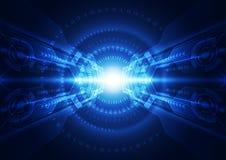 Абстрактная предпосылка цифровой технологии безопасностью вектор иллюстрации Стоковая Фотография RF