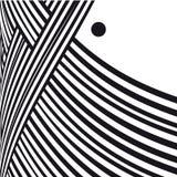 абстрактная предпосылка Черно-белые линии кривой с рамкой для сообщения Стоковые Изображения