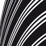 абстрактная предпосылка Черно-белые линии кривой Стоковое Фото