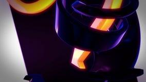 Абстрактная предпосылка 3D поворачивая стрелки синего и оранжевого желтого цвета Стоковая Фотография