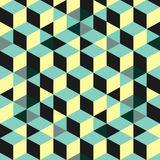 абстрактная предпосылка 3d cubes стена вектор Стоковое Фото
