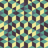 абстрактная предпосылка 3d cubes стена вектор иллюстрация штока