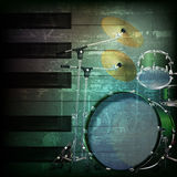Абстрактная предпосылка grunge с набором барабанчика Стоковые Фото