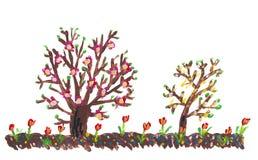 абстрактная принципиальная схема покрашенная весна Стоковые Изображения RF