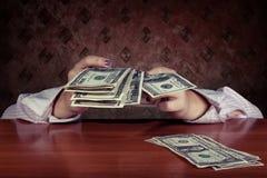 Абстрактная принципиальная схема денег Стоковые Фото
