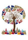 Абстрактная принципиальная схема дерева иллюстрация вектора