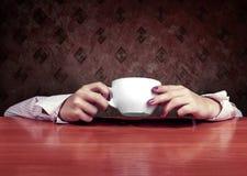 Абстрактная принципиальная схема чашки чаю Стоковое Изображение
