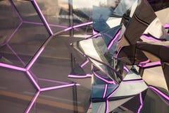 Абстрактная прозрачная предпосылка отражения Стоковые Фотографии RF