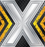 Абстрактная промышленная предпосылка с огромным знаком x иллюстрация штока